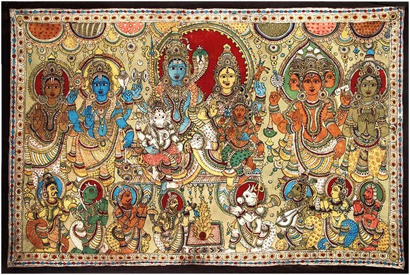 The Devine Family - Large Kalamkari Painting