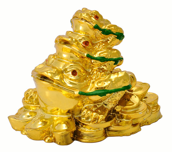 Feng Shui Polyresin Frogs Showpiece