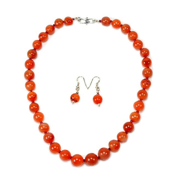 Orange Beauty - Stone Necklace