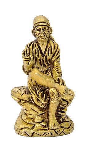 Sai Baba Miniature Brass Sculpture