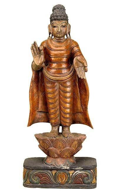 Buddha's Blessings - Fine Wood Statue