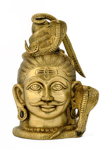 Lord Shiva Head - Brass Sculpture