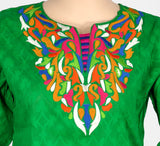 Green Color Embroidery Kurti