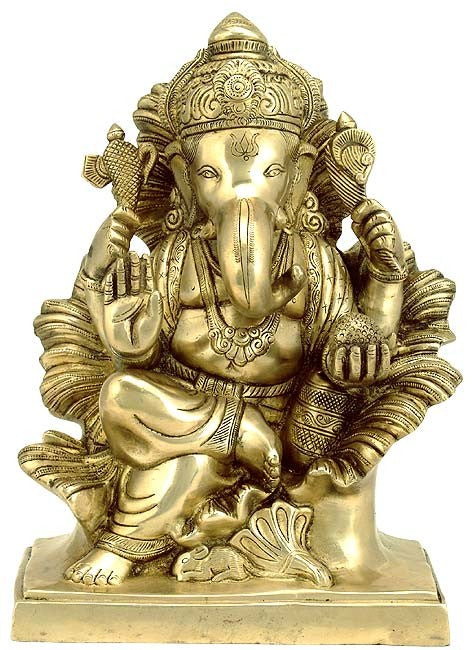 lord Ganesha - Brass Sculpture  BS0139