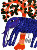 Elephant Gond Tribal Painting