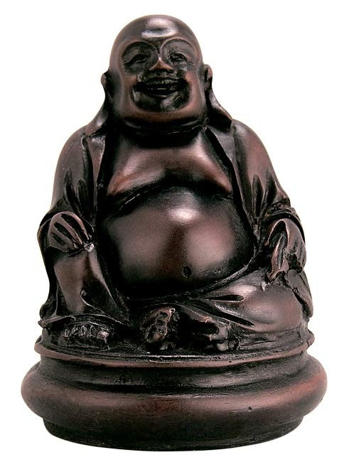 Seated Jolly Hotei - Resin Statue