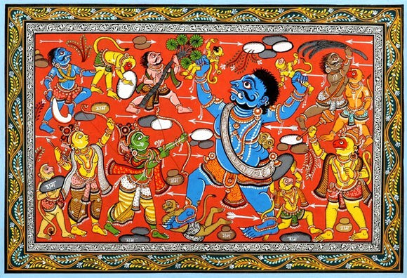 Demon Giant Kumbhakarna Fights Lord Rama