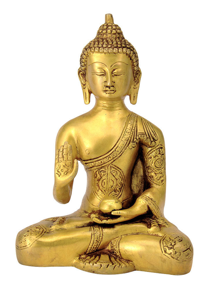 Lord Buddha Brass Sculpture 4486