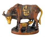 Brass Cow and Calf Sacred Statue