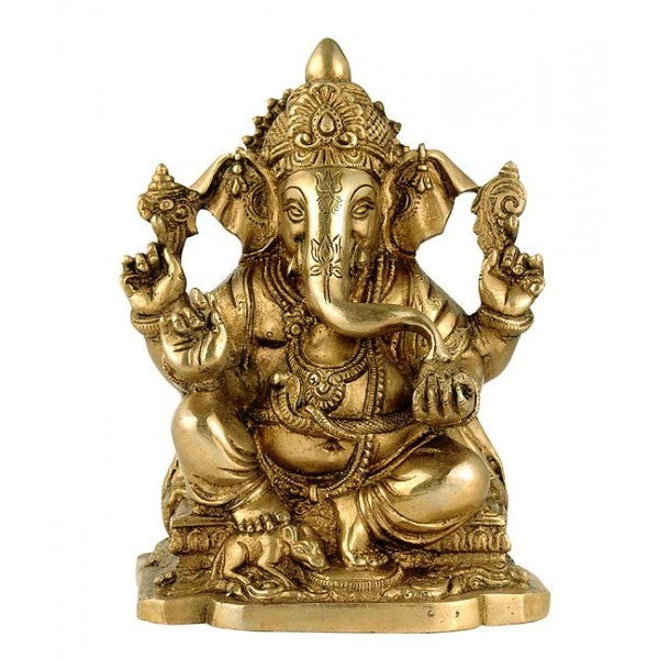 Lord Ganesha 'First Among All Deities' Brass Sculpture