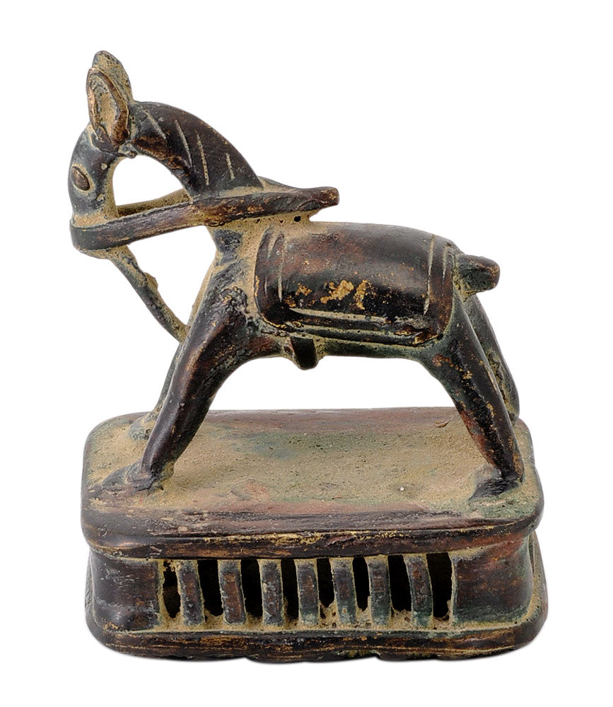 Antiquated Folkart Horse Brass Figurine