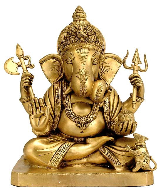Abhaya Ganesha - Brass Sculpture