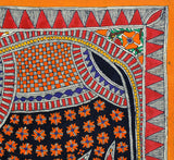 Beautiful Elephant - Mithila Folkart Painting from Bihar