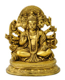Five Headed Lord Hanuman Brass Figure