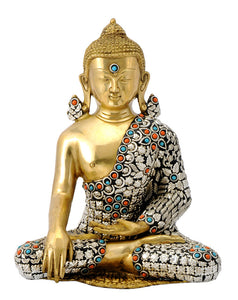Attractive Buddha Brass Statue Idol in Healing Mudra Figure 4751