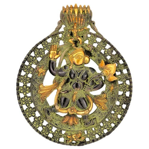 Mighty Hanuman Brass Wall Hanging