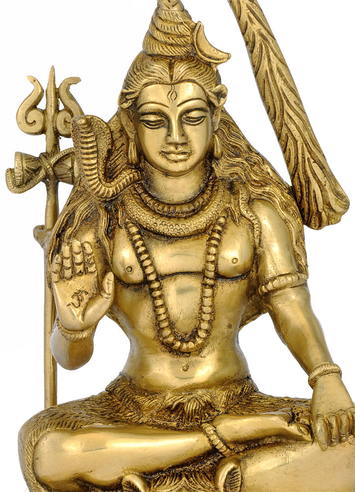 Lord Mahadev Brass Sculpture