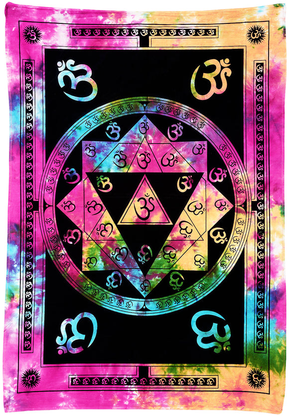 AUM Mandala Wall Hanging Cotton Tapestries