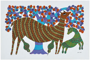 Bond of Love - Gond Painting