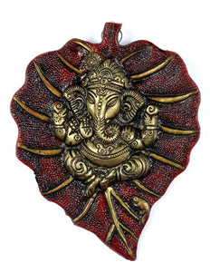 Leaf Ganesha - Wall Hanging 8""