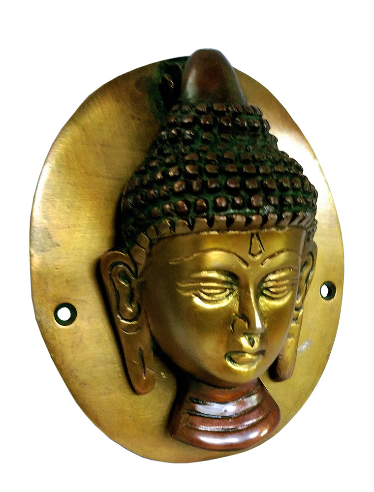 Buddha Face Brass Decorative Door Knocker