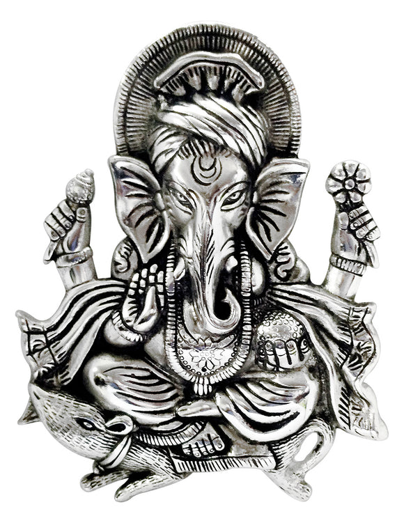 Lord Ganesha Metal Wall Hanging for Home Decor
