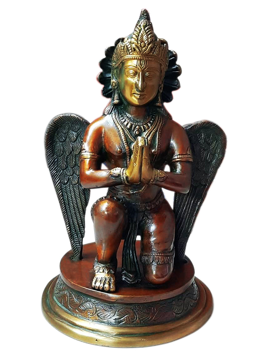 Decorative Lord Garuda Brass Idol