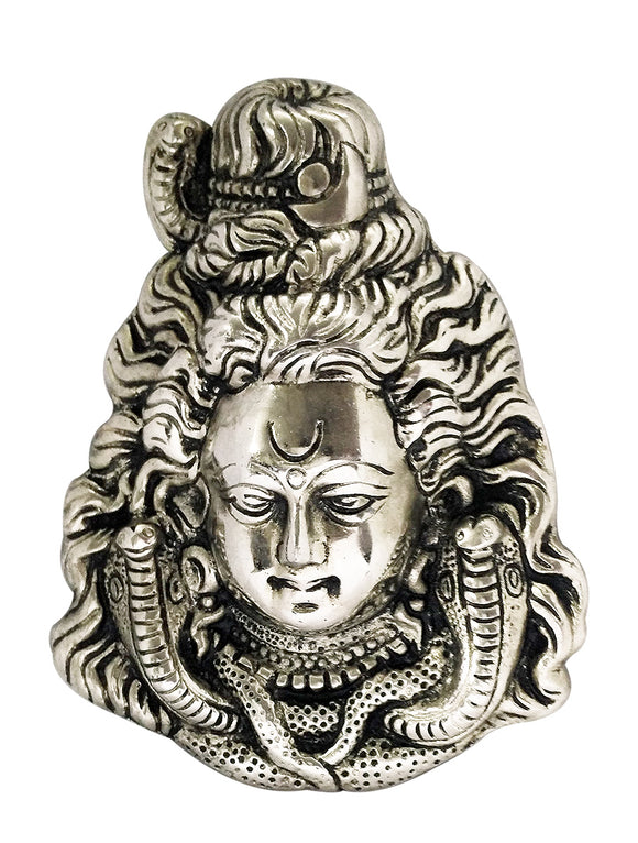 Hindu God Shiva Metal Wall Hanging Mask for Home Decor
