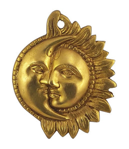 Sun Moon Brass Hanging