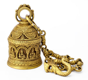 Nava Devi Brass Carved Bell
