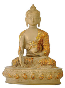Antiquated Earth Touching Medicine Buddha Statue