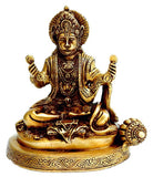 Hanuman Singing Bhajans of His Lord - Brass Statue  BS0058