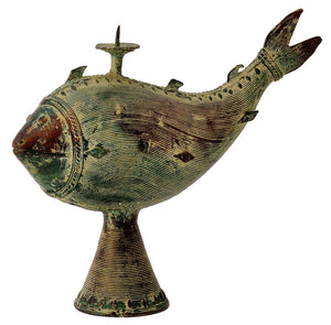 Dhokra Craft Unique Fish Candle Stand Sculpture