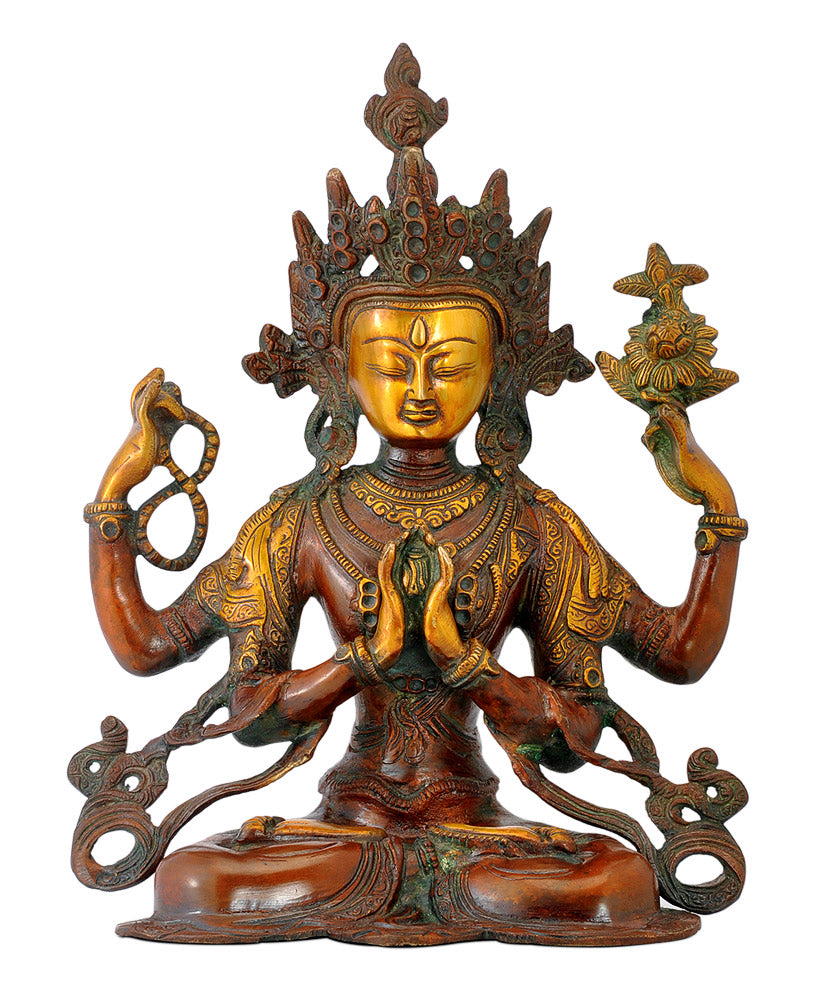 Lord Avalokiteshvara - Brass Sculpture