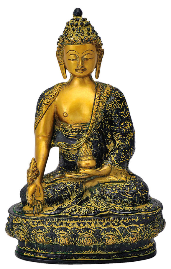 Antique Finish Buddha Figurine