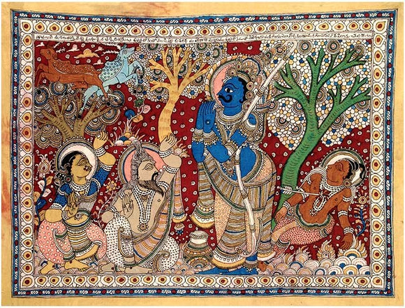 Shravan Kumar Met His Tragic End - Kalamkari Painting