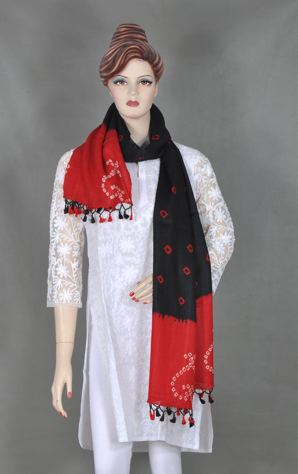 Bandhej Red Stole