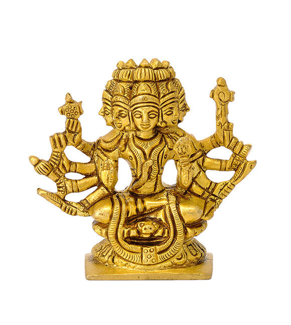 Panchmukhi Five Headed Shiva Miniature Statue