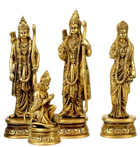 Ram Durbar carved Brass Sculptures