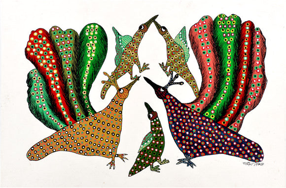 Peacock Indian Art Gond Panting