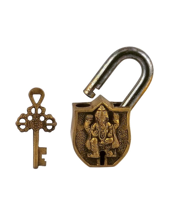 Brass Decorative Lock 'Lord Ganesha'