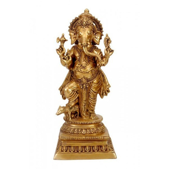 Ganesha The Ever Graceful - Brass Statue