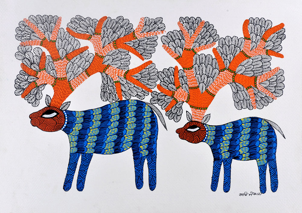 Untitled - Folk Art Gond Panting