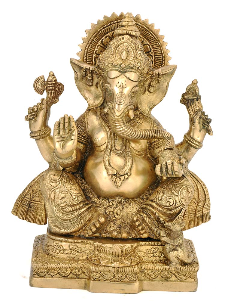 Remover of Obstacles Ganesha Brass Statue