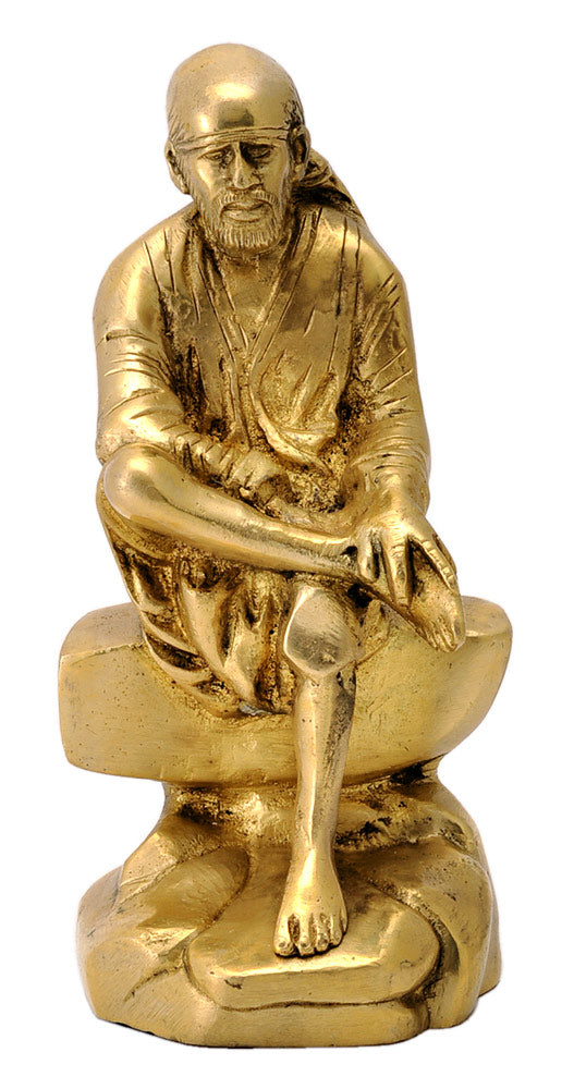 Brass Sculpture - Sai Baba