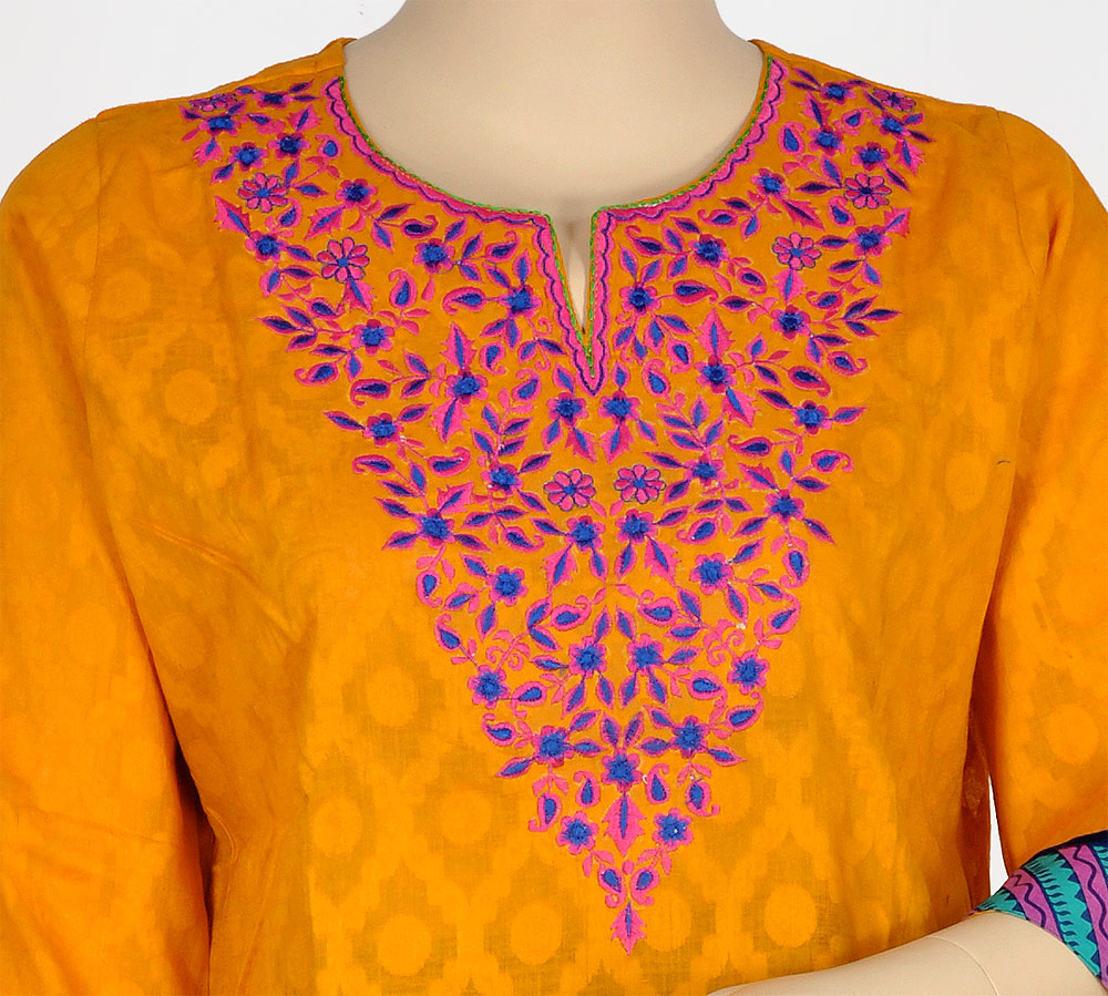 Orange Long Style Kurti
