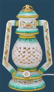 Beautiful Hand Painted Marble Lantern