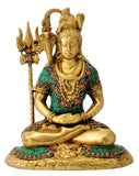 Brass Figure Shiv Shankar Meditating