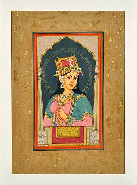 Indian Mughal Queen - Fine Miniature Painting