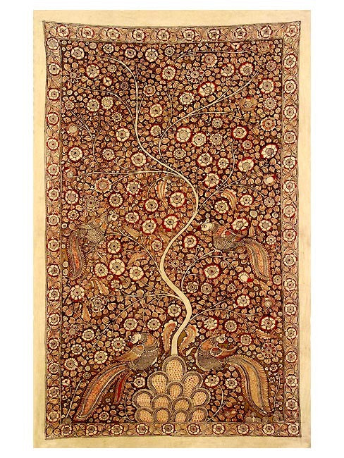 The Autumn Tree- Kalamkari Pen Painting